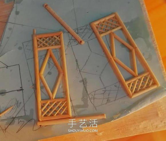 一次性筷子做古代塔的�⒘怂�制作方法教程 -  www.shouyihuo.com