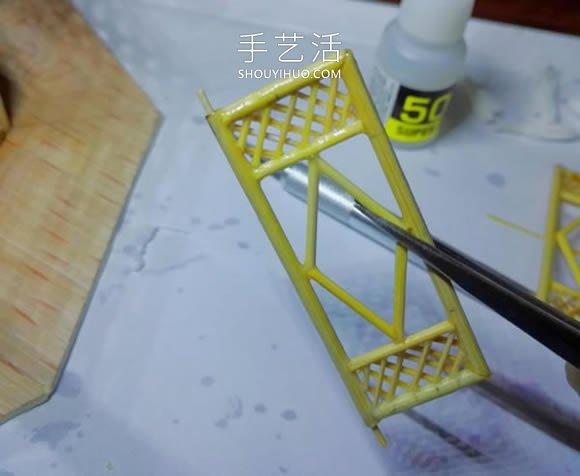 一次性筷子做古代塔的制作恐怖方法教程 -  www.shouyihuo.com