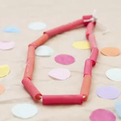 幼儿园手工制作通心粉项链的做法教程