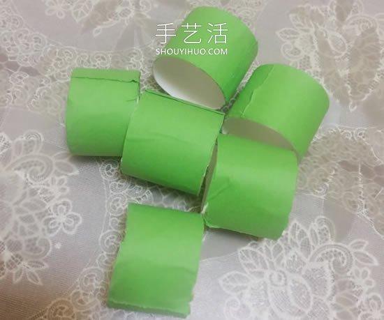 幼��@手工制作卷�筒毛毛�x的做法教程 -  www.shouyihuo.com
