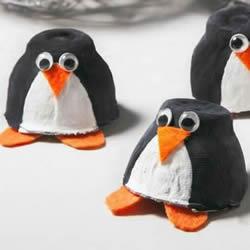 幼儿园手工制作鸡蛋托企鹅的做法教程
