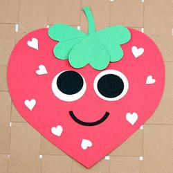 幼儿园手工制作爱心草莓粘贴画的做法教程