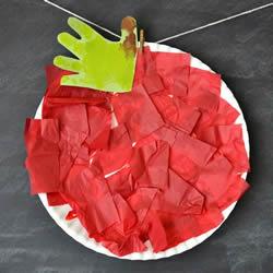 幼儿园简单手工制作红苹果的做法教程