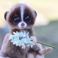 独特而可爱!用羊毛手工制成的可爱动物作品