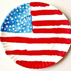 幼儿园手工制作纸盘美国国旗的做法教程