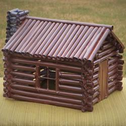 用纸做逼真小木屋模型的做法教程