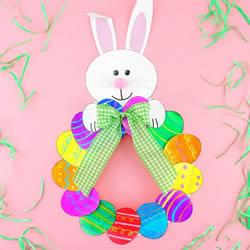 幼儿园手工制作纸盘复活节彩蛋花环的做法