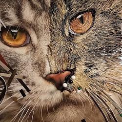 """衍纸艺术家创作""""超现实""""动物肖像作品"""