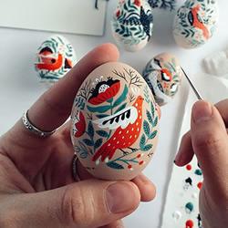 鸟语花香的木制复活节彩蛋!满满乌兹别克风情