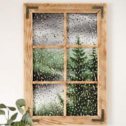 雨打窗户!逼真水彩画让雨滴与自然景观相融