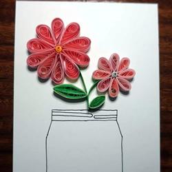 跟我学做纸艺花!漂亮插花衍纸画的做法教程