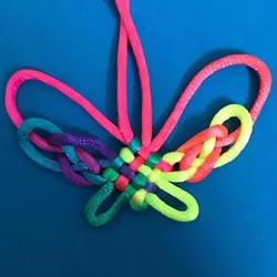 蝴蝶结的编法步骤图解教程