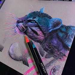 """会""""发光""""的插图,警醒人们保护濒临灭绝的动物"""