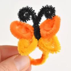 扭扭棒手工制作蝴蝶戒指的做法教程