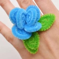 扭扭棒花朵戒指手工制作教程图解