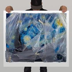 像是用塑料薄膜包裹!令人难以置信的逼真绘画