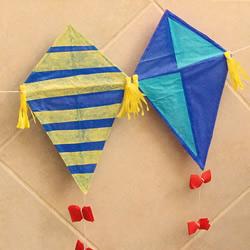 简单吸管风筝手工制作图解教程