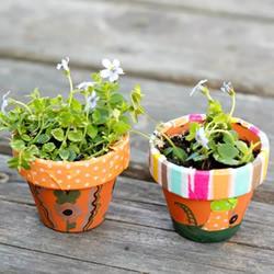 可爱迷你花盆怎么做,看看纸胶带创意用法!