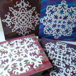 雪花装饰画制作方法