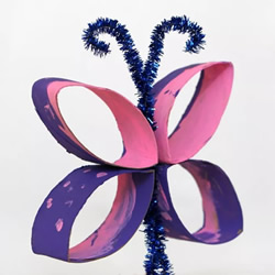 厕纸卷筒纸芯废物利用手工制作蝴蝶