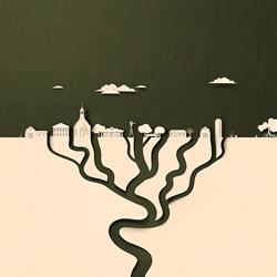 """这些""""纸""""插图展示全球变暖影响美国人的生活"""