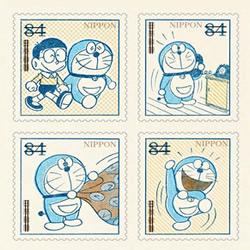 复古版哆啦A梦邮票!手绘怀旧感纪念五十周年