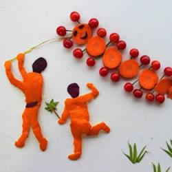 儿童蔬菜拼盘画做法大全简单又可爱