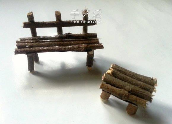 幼�河�渲ψ鲩L椅和桌子�的手工教程 -  www.shouyihuo.com