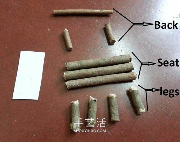幼�害嬗�渲ψ鲩L椅和桌子的手工教程 -  www.shouyihuo.com