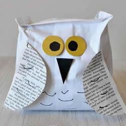 纸袋猫头鹰的制作过程简单又可爱