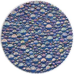抽象衍纸画作品图案,仿佛美轮美奂的万花筒