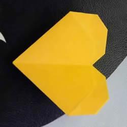 心形的折法步骤图解最简单