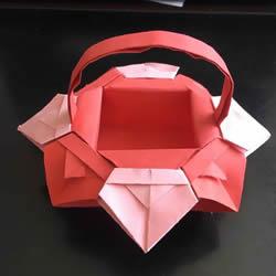 小花篮的折纸方法简单教程