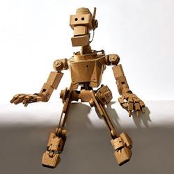 令人难以置信的手工纸板机器人,栩栩如生!