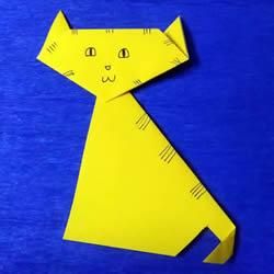 最简单折小猫的方法详细步骤图解