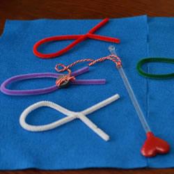 自制扭扭棒钓鱼玩具的做法教程