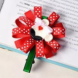 儿童款缎带花发夹制作教程图解
