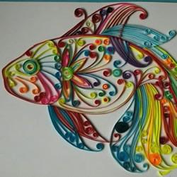 衍纸神仙鱼制作教程非常漂亮