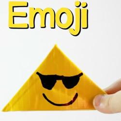 黄色胶带手工制作表情符号书签的方法