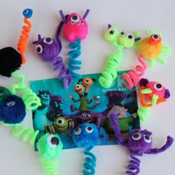 扭扭棒小怪物指偶的简单制作方法教程