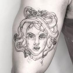 创意错觉纹身,让人眼花缭乱的细线设计!