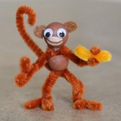 扭扭棒手工制作猴子的超简单方法教程