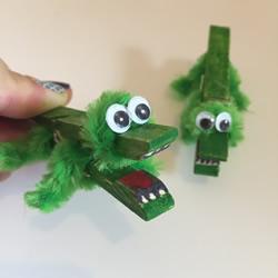 木夹子鳄鱼手工制作教程超简单