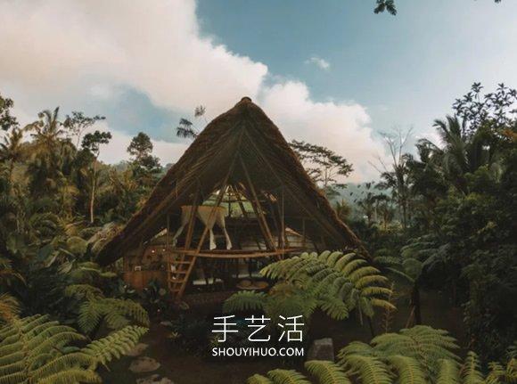 竹子建造3层楼度假小屋,打造隐世避暑秘境 -  www.shouyihuo.com