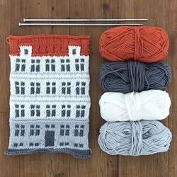 手工编织毯子,灵感来自哥本哈根多彩独特建筑