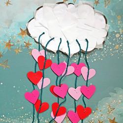 儿童情人节手工制作:下雨的日子