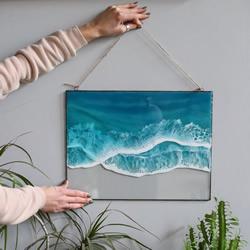 DIY�渲�壁�旌偷��,勾勒出海浪的美!