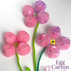 带磁吸鸡蛋盒花朵制作方法教程