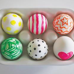鸡蛋手工制作可爱复活节彩蛋手绘