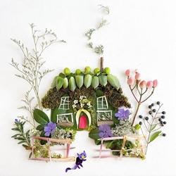 ��g家�⒚利�的植物DIY成空�`的自然拼��